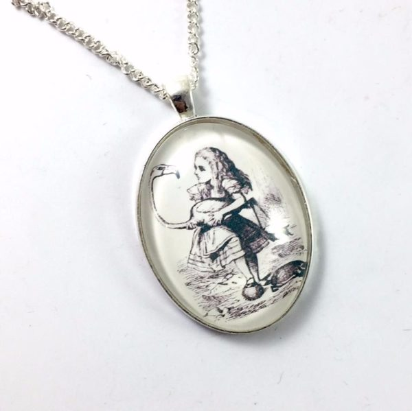 Alice Glass Dome Necklace - Alice in Wonderland