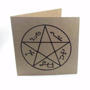 Devil's Trap Greetings Card - Supernatural