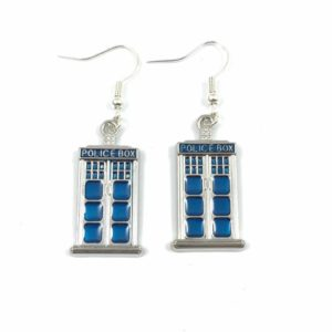 Police Box (Tardis) Earrings