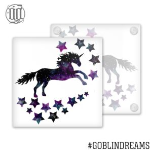Space Unicorn Coaster (Glass)