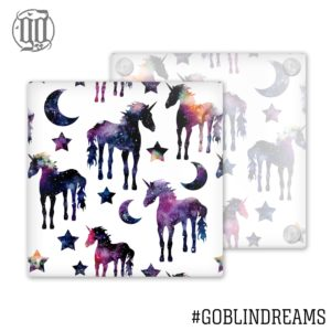 Space unicorn Pattern Coaster (Glass)
