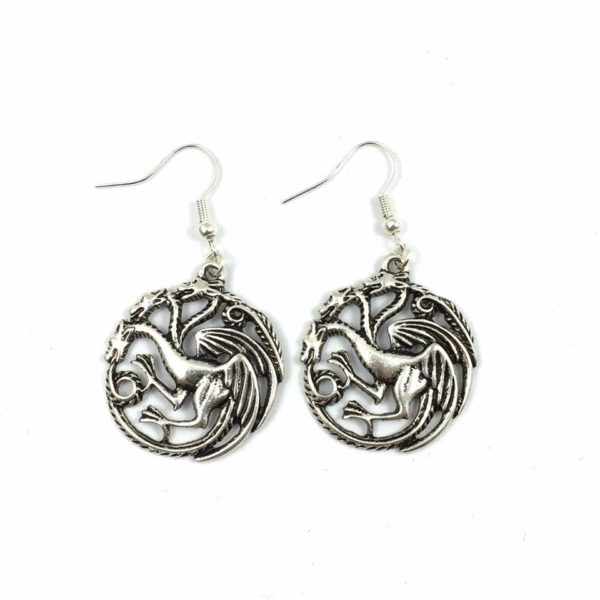 Targaryen 3 Headed Dragon Earrings