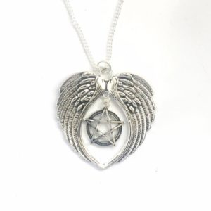 Wings with Pentacle Statement Necklace