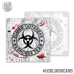 Zombie Outbreak Response Team  Coaster (Glass)