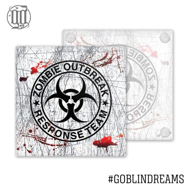Zombie Outbreak Response Team  Coaster (Glass)
