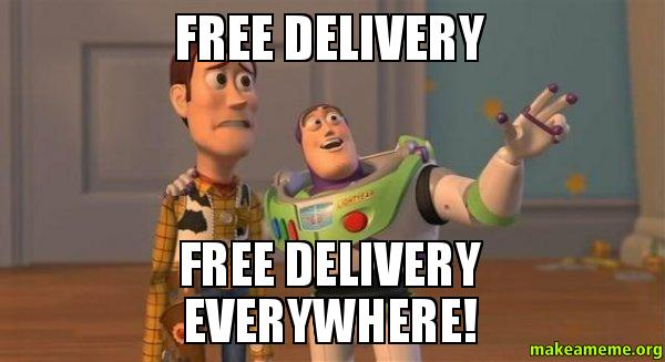 FREE DELIVERY ANNOYANCE